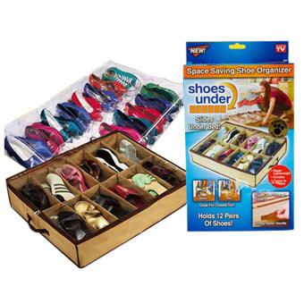 Daisiกระเป๋ารองเท้า กระเป๋าใส่รองเท้าพร้อมส่ง กระเป๋าจัดรองเท้าอเนกประสงค์ กระเป๋าแฟชั่น Daisi0120น้ำตาล