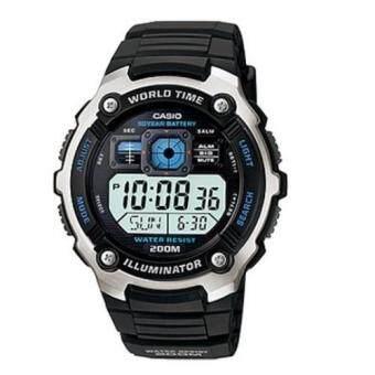 Casio Standard นาฬิกาข้อมือผู้ชาย สายเรซิ่น รุ่น AE-2000W-1AVDF - Black