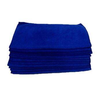 DUPRO ผ้าไมโครไฟเบอร์ แพ็ค 12 ผืน 001 ขนาด 40x40 ซม. - สีน้ำเงิน