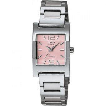 Casio นาฬิกาข้อมือ รุ่น LTP-1283D-4A – Silver/Pink