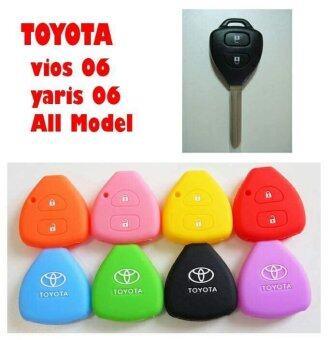 ซิลิโคนกุญแจรถยนต์ TOYOTA สีแดง