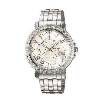 Casio Sheen นาฬิกาข้อมือผู้หญิง หลายเข็ม สีเงิน สายสแตนเลส รุ่น SHN-3011D-7ADR