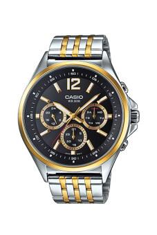 Casio Standard นาฬิกาข้อมือผู้ชาย สายแสตนเลส รุ่น MTP-E303SG-1A - สีเงิน/ทอง