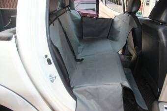 Smartmall ผ้าคลุมเบาะรถยนต์สำหรับสุนัข (สีเทา)