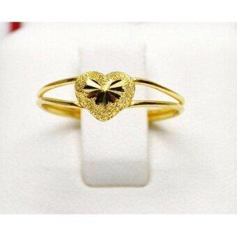 PGold แหวนรูปหัวใจ ทองคำแท้ 96.5% 1 กรัม เบอร์ 52