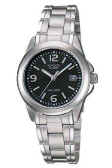 Casio Standard นาฬิกาข้อมือผู้หญิง สายสแตนเลส รุ่น LTP-1215A-1ADF - สีเงิน/ดำ