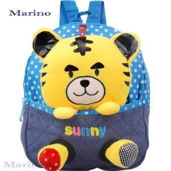 Marino กระเป๋า กระเป๋าเป้ กระเป๋าเป้สะพายหลังสำหรับเด็ก รูปเสือ No.0187 - Blue