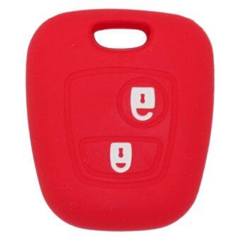CV7300RD Silicone Cover Holder Fit for Citreon Peugeot 2 Button Remote Key (Red)