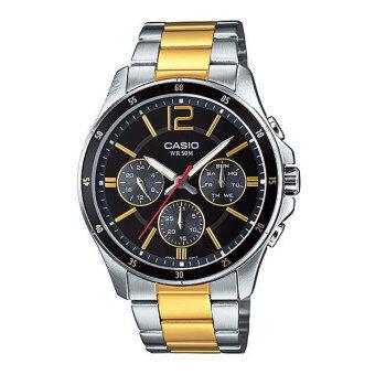 Casio Standard นาฬิกาข้อมือผู้ชาย สีเงิน/ทอง สายสแตนเลส รุ่น MTP-1374SG-1AVDF