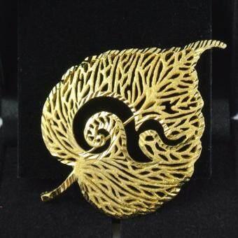 Pearl Jewelry เข็มกลัดเลข 9 ใบโพธิ์ทอง งานช่างไทยคุณภาพดี