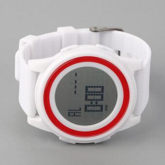 โอ้ SKMEI 1206 สตรีแฟชั่นนาฬิกาข้อมือกันน้ำซิลิโคนเจลสีสายขาว