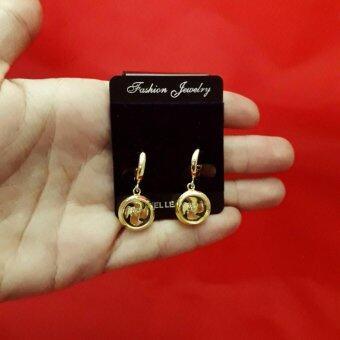 Trust Shop ต่างหู กังหันแชกงหมิว สีทอง เสริมโชค 4 ด้าน แก้ปีชง