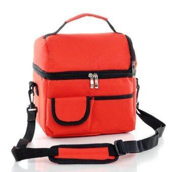 Coolbag กระเป๋าเก็บความเย็นปิคนิก สีแดง