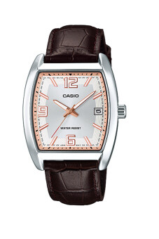 Casio Standard นาฬิกาข้อมือผู้หญิง สายหนัง รุ่น MTP-E107L-7ADF - สีขาว