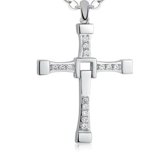 Harga Silver Plated Cross Pendant Gift Trendy Pendant Necklace - intl