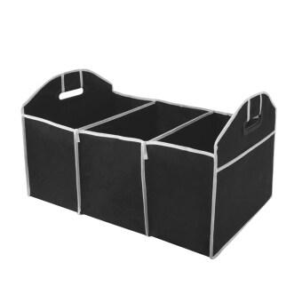 อ้อรถพับได้พับเรียบร้อยพื้นที่นัดหมายซื้อกล่องเก็บออม (สีดำ)