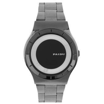 โอ้ PAIDU คนใหม่สไตล์ธุรกิจไม่ใช่รูปนาฬิกาข้อมือนาฬิกาควอทซ์สีดำ และขาว