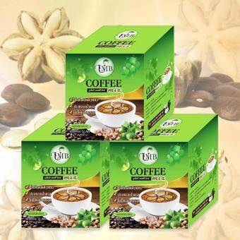 Sacha Inchi UMB Coffee Mix กาแฟถั่วดาวอินคา รสกลมกล่อม ขนาดกล่องบรรจุ 12 ซอง 3 กล่อง