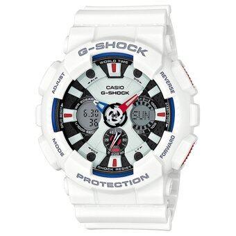Casio G-Shock นาฬิกาข้อมือผู้ชาย สายเรซิ่น รุ่น GA-120TR-7ADR สีขาว