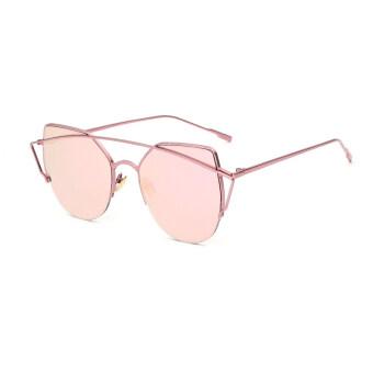 แว่นตากันแดดสีนัยน์ตาแมวสาวเรโทร BarbiePink Polaroid เลนส์ไทเทเนียมแว่นตากันแดดยี่ห้อรถออกแบบกรอบกล่องเดิมÓculos หญิง