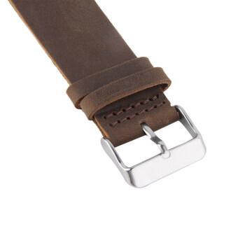 โอ๊ยนาฬิกาของชายป่าไผ่นาฬิกาข้อมือหนัง Pu ควอทซ์ (สีน้ำตาล)