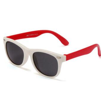 2559 ใหม่เด็ก TAC เด็กแว่นกันแดดโพลาไรซ์นักกีฬาสีสำหรับเด็กหนุ่มสาวแว่นแว่นตา (ขาว)