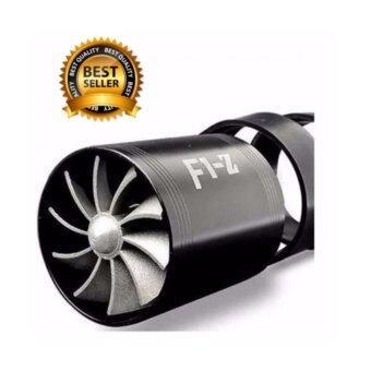 F1Z พัดลม 2 ใบพัด สำหรับใส่ท่อกรองอากาศ เพิ่มแรงดันอากาศ ให้อากาศให้มีทิศทางที่เร็วและแรงขึ้น ติดตัั้งง่าย ตามวิดิโอใต้ภาพ (ดำ)