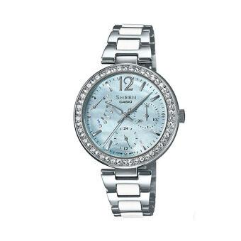 Casio Sheen Multi-hand นาฬิกาข้อมือ สีทอง Stainless Strap รุ่น SHE-3042D-2A