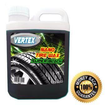 VERTEX น้ำยาเคลือบเงายาง ทายาง รถยนต์ สูตรนาโน SUPER BLACK ซิลิโคนแท้ 100% ขนาด1ลิตร