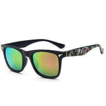 Man style Sunglasses แว่นตากันแดด รุ่น 15929 C06 (Purple/Black)