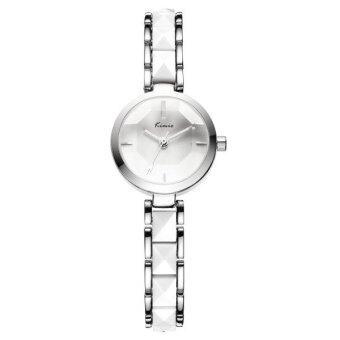 Kimio นาฬิกาข้อมือผู้หญิง สาย Alloy สีขาว/เงิน รุ่น KW6120