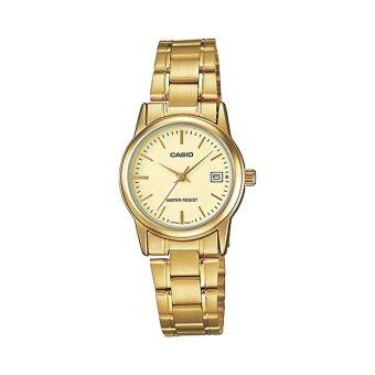 Casio Standard นาฬิกาข้อมือผู้หญิง สายสแตนเลส รุ่น LTP-V002G-9AUDF - สีทอง