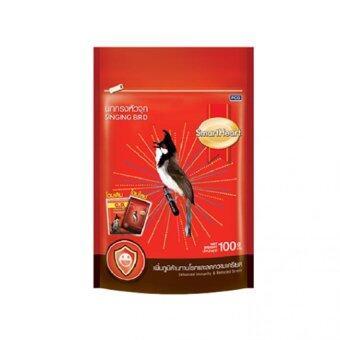 SmartHeart อาหารนกกรงหัวจุก สูตรเพิ่มภูมิต้านทานโรคและ ลดความเครียด ขนาด 100กรัม ซองแดง(6ถุง)