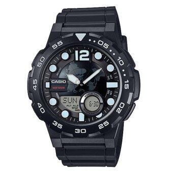 Casio Standard นาฬิกาข้อมือผู้ชาย สายเรซิน รุ่น AEQ-100W-1AVDF (Black)