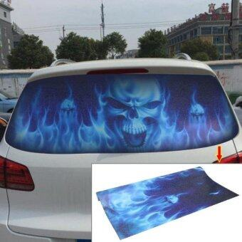 ... Car Sticker Decal Waterproof Backup Window Ghost Rider Styling 3D Emblem External Side Personalized Car Wall House Decoration Size: 130cm X 70cm - intl
