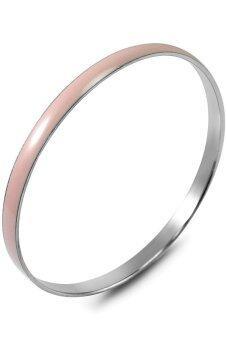 555jewelry กำไลสำหรับสุภาพบุรุษและสุภาพสตรี รุ่น FSBG131-1 (ชมพูพาสเทล)