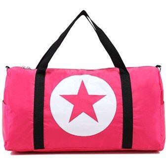 Little Bag กระเป๋าเดินทางใบเล็ก กระเป๋าเดินทางสะพายไหล่ กระเป๋าเดินทาง travel bag รุ่น LT-010 (สีชมพู)