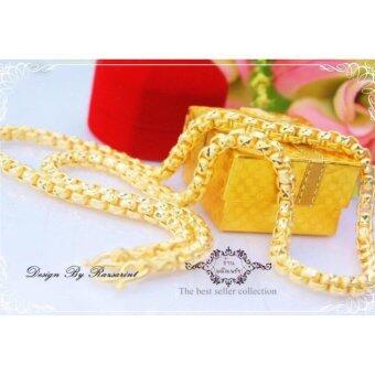ManeeNopparut มณีณพรัช สร้อยคอ ทองคำ ลายห่วง หนัก 2 บาท หุ้มทองหน้า 5 ไมครอน ยาว 24 นิ้ว