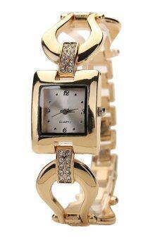 Bluelans หญิงกำไลพลอยสีผลึกคล้ายคลึงนาฬิกาข้อมือ (ทอง)