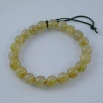 Pearl Jewelry กำไลหินไหมทอง X4