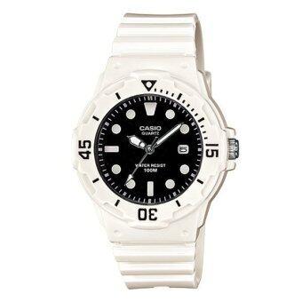 CASIO standard นาฬิกาข้อมือ sport Lady White/Black สายเรซิ่น รุ่น LRW-200H-1EVDF