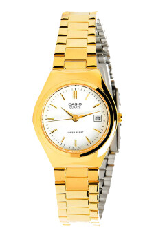 Casio Standard นาฬิกาข้อมือผู้หญิง สายสแตนเลส รุ่น LTP-1170N-7ARDF - เรือนทอง/หน้าขาว
