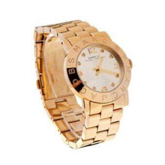Harga Marc by Marc Jacobs MBM3182 Lady Watch Amy Crystal Gold-tone Silver Dial MBM3182