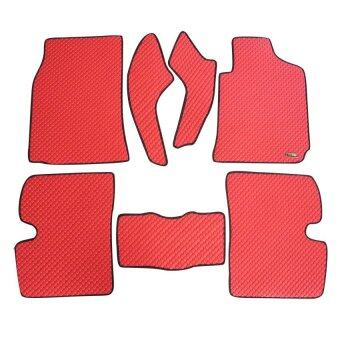 Matpro พรมปูพื้นเข้ารูป 100% ลายกระดุม ชุด Standard Set 7 ชิ้น - TOYOTA ALTIS 2001-2007 - สีแดง