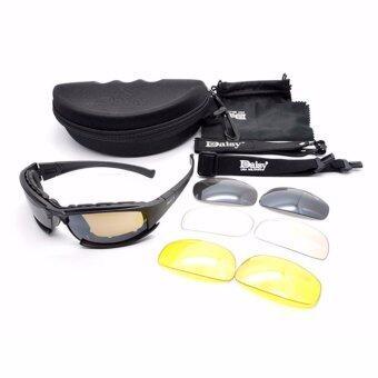Daisy army glasses แว่นตากันแดด รุ่น X7 สีดำ
