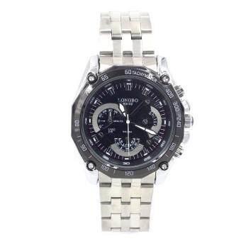 Sevenlight นาฬิกาข้อมือผู้ชาย รุ่น GP9174 (Silver/Black) พิเศษแถมซองนาฬิกาสุดหรู