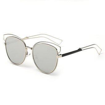 โอ้อ่อนสาวเรโทรวินเทจแฟชั่นแว่นตากรอบแว่นสายตาแมวใหม่
