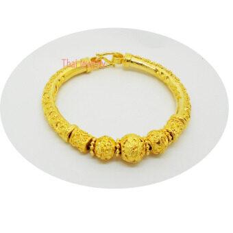 Thai Jewelry สร้อย กำไลข้อมือ ทองสุโขทัย งานชุบทองไมครอน ชุบเศษทองคำแท้ 96.5% น้ำหนัก 2 บาท ขนาด 6 นิ้ว