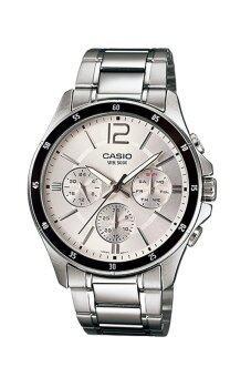 Casio Standard นาฬิกาข้อมือผู้ชาย สายแสตนเลส รุ่น MTP-1374D-7AV - White