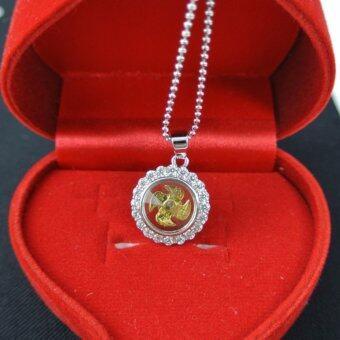 Pearl Jewelry จี้กังหัน นำโชค เพชรสวิส พร้อมสร้อยคอ LC208